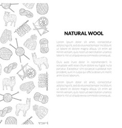 natural wool banner template with place for text vector image