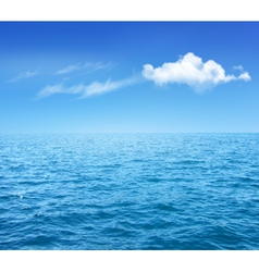 Nature background with blue sea and blue sky with vector