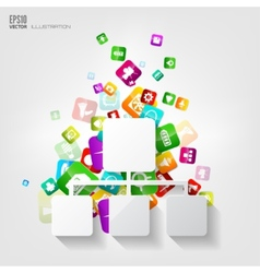 Network iconApplication buttonSocial mediaCloud vector image