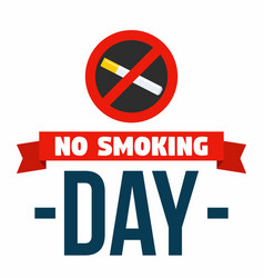 no smoke day concept background flat style vector image