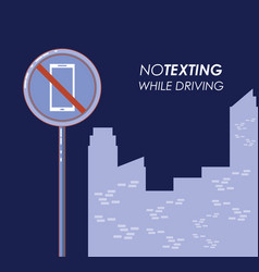 No texting while driving campaign vector