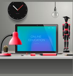 online learning webinar online education vector image