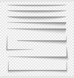 paper sheet shadow effect vector image