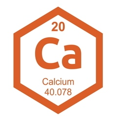 Periodic table calcium vector image