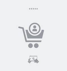 Personal account on web store vector