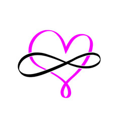 pink infinity symbol love forever element vector image