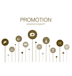 Promotion infographic 10 steps template vector