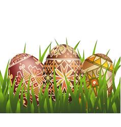 pysanky easter eggs vector image