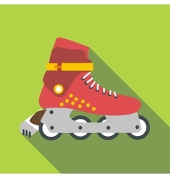 Roller-skates icon flat style vector image