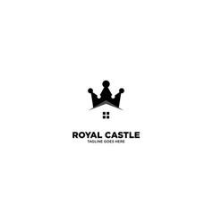 Royal castle logo template vector