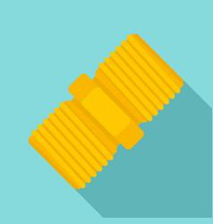 Screw-thread icon flat style vector
