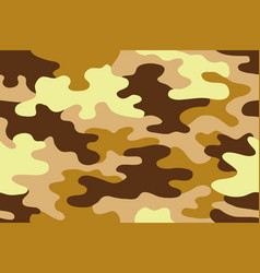 Seamless classic camouflage pattern vector