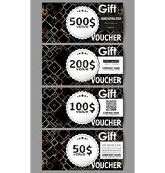 Set of modern gift voucher templates Material vector image