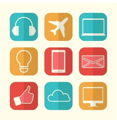 Set of paper creative icons vector image