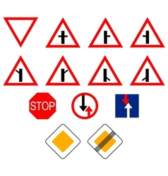Signs of priority vector image