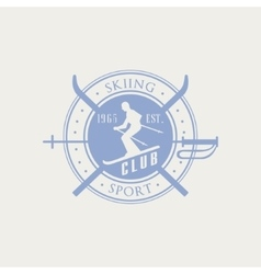 Skiing Club Emblem Design vector