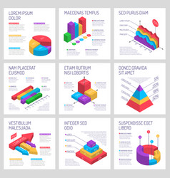 Square infographic banners set vector