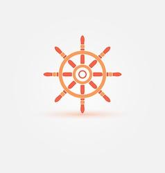 Steering wheel - orange bright symbol or icon ship vector
