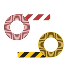 Striped tape vector