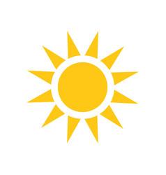 Sun icon summer sunshine on white isolated vector