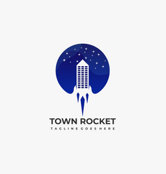town rocket template vector image