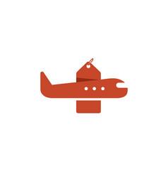 travel retro aircraft deal label creative air logo vector image