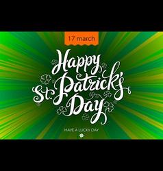 Typographic Saint Patricks Day Retro Background vector image