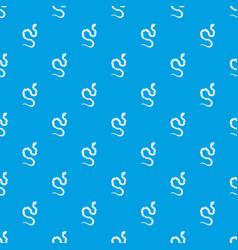 Venomous snake pattern seamless blue vector