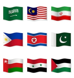 Waving flags of different countries 5 vector image