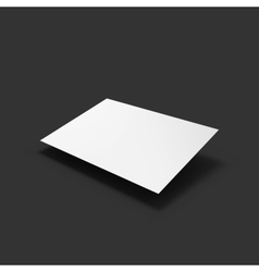 White page Business mockup template vector