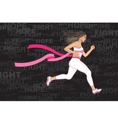 Winner Running Woman vector