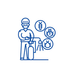 Workerbug destroyer line icon concept workerbug vector