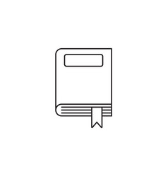 closed book thin line icon outline logo vector image