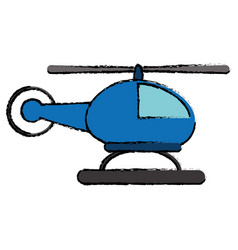 helicopter transport flight icon vector image