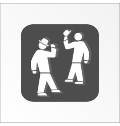 Office web icon Hat take off Meeting and vector image vector image