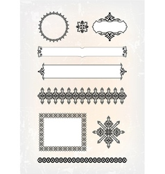 set of abstract decorative pattern vector image vector image
