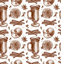 warm wine seamless background vector image