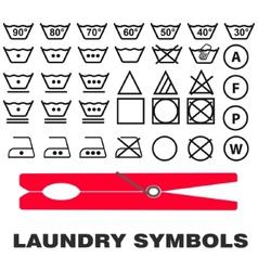 Wash care symbols vector image