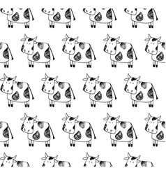 cow pattern vector image
