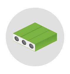 Isometric mattress icon circular shaped vector