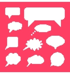 white speech bubbles set on pink background vector image