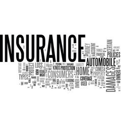 why is insurance important text word cloud concept vector image