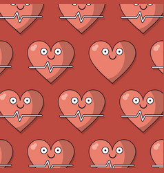 colorful background with pattern of heart and vector image