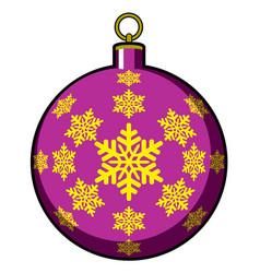 isolated christmas tree ball vector image