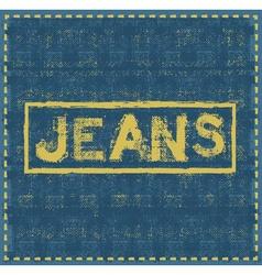 Jeans grunge background design template vector