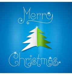 Merry Christmas theme on blue background vector image vector image