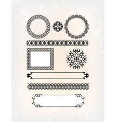 set of abstract flower pattern vector image vector image