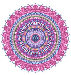 Circle tribal pattern vector image vector image