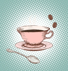 Cup of coffee Doodle image vector image vector image