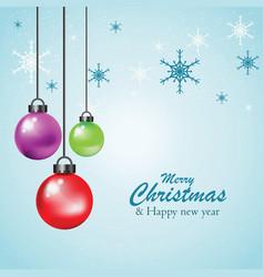 hanging colorful christmas ball vector image